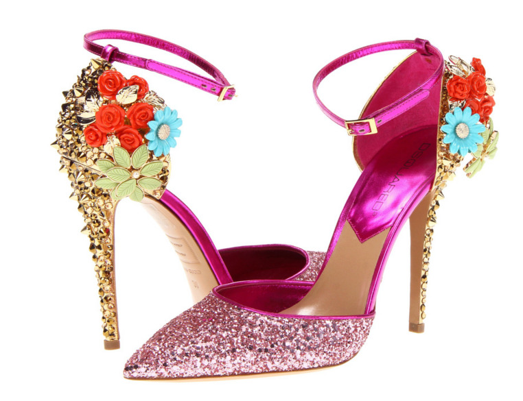 Are these spiky, glitter heels the cutest party shoes of 2012?