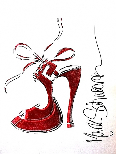 high heel art