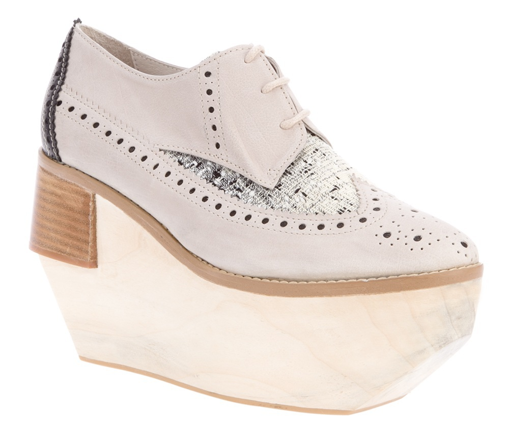wedge heeled brogues