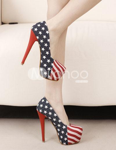 American flag high heels