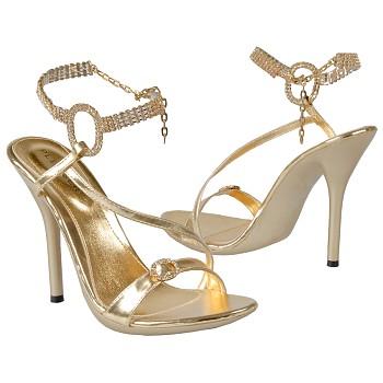 Pleaser gold sandals