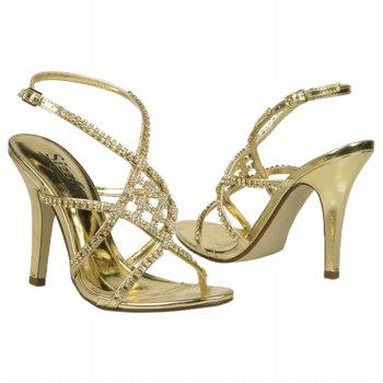 strappy gold stiletto sandals