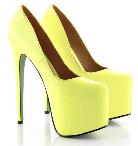 yellow extreme platform heels