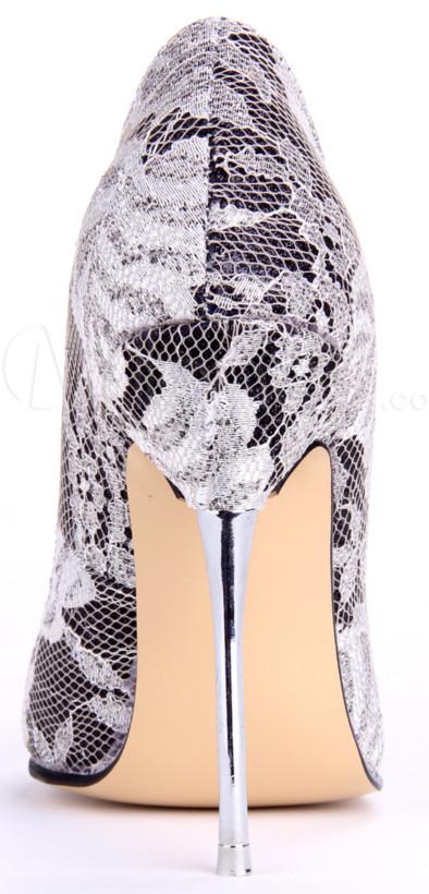 Metal high heels