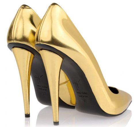 Zanotti gold high heels
