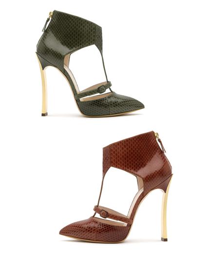Casadei gold blade heels