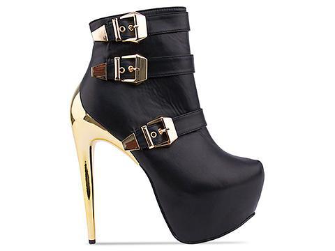 black high heel boots 2013