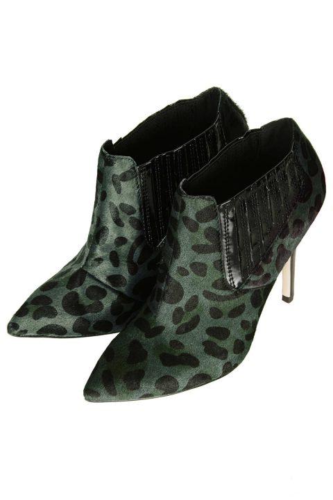 Leopard Print Shoe Boots