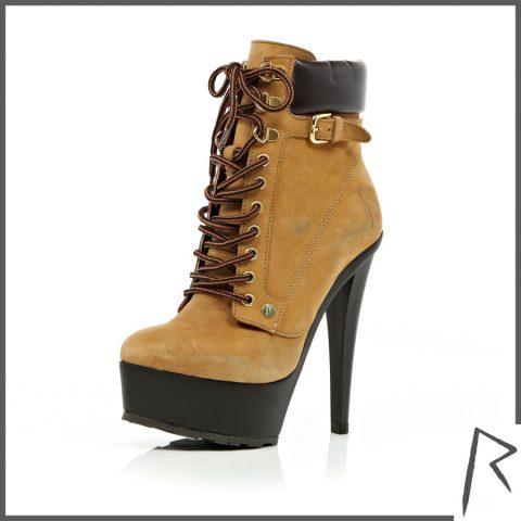 Suede Super High Heel Rihanna Boots