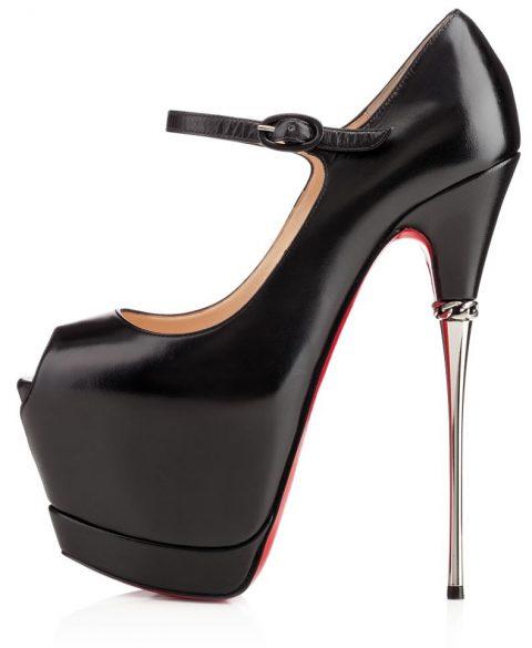 christian louboutin metallic heels