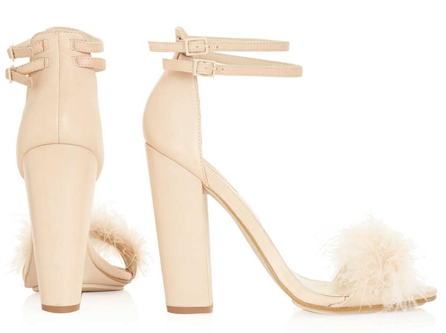 35e995e93b79 ... Black Feather High Heels Nude Topshop High Heels ...