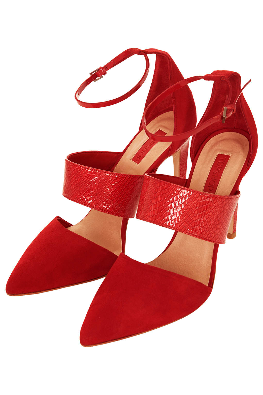 a79a7815e526 Gelato Topshop Skinny Shoe Red high heels ...