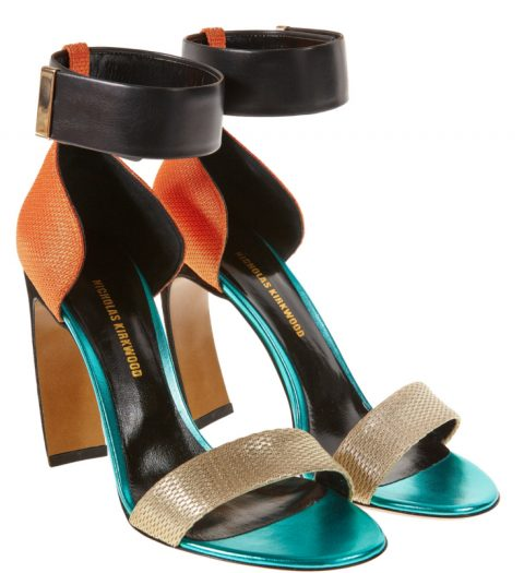 Nicholas Kirkwood colour blocked sandals