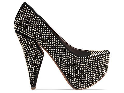 Angled high heels