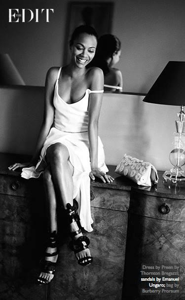 Zoe Salanda in Emanuel Ungaro sandals