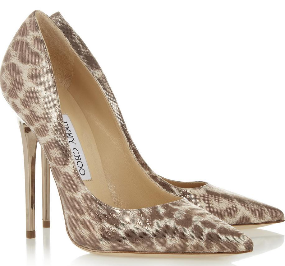 Jimmy Choo leopard print shoes