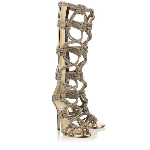 468bc43c9038 rope high heels Jimmy Choo Jimmy Choo rope boots