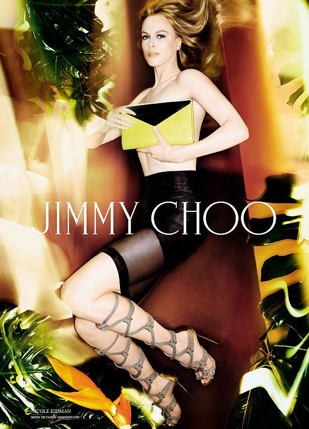 Nicole Kidman in rope sandals for Jimmy Choo