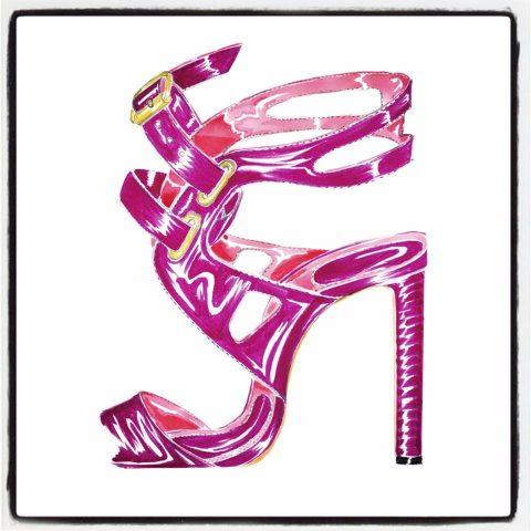 Manolo Blahnik shoe sketch