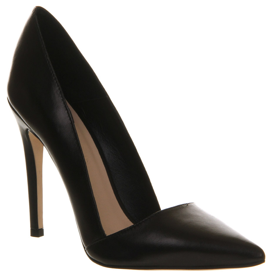 Black work pumps from office