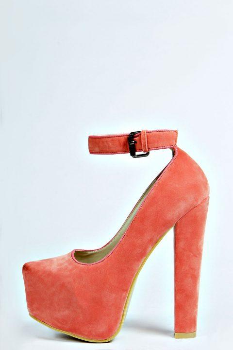 Coral High Platform Heels