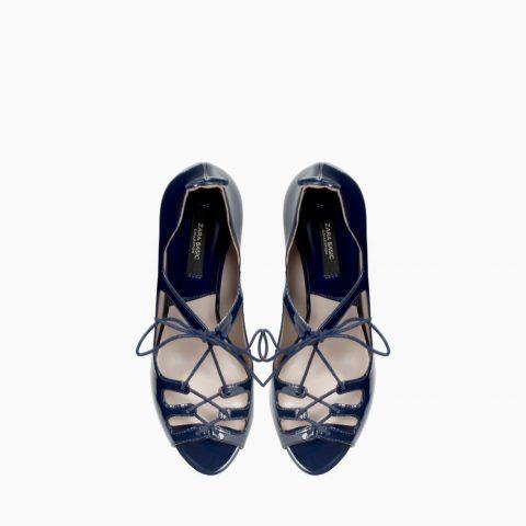 Blue High Heel Sandals