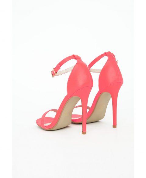 Clara Neon Pink High Heel Sandals