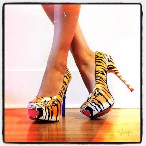 tiger high heels