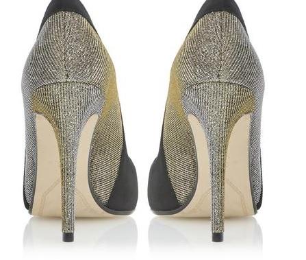 Dune sparkly heels