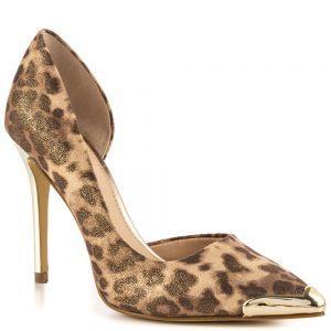 leopard print dorsay heels
