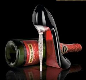 Christian Louboutin champagne