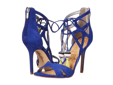 Azelia high heeled blue suede shoes