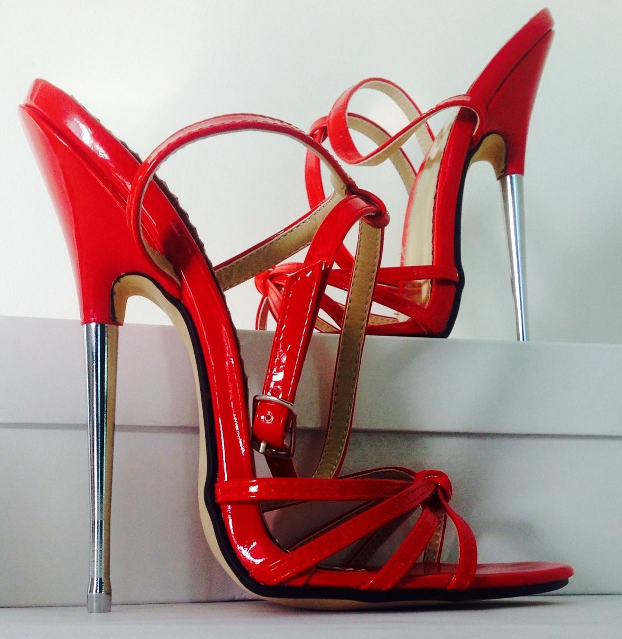 strappy bedroom heels