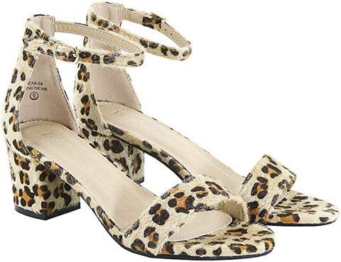leopard look sandals